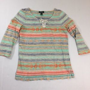 Lauren Ralph Lauren Striped Blouse Shirt S